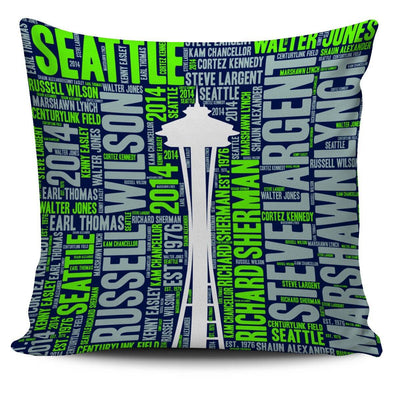 Seattle Football Landmark Pillowcase