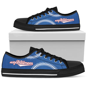 Softball Mom Blue Low Top Shoes