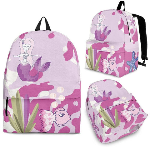 mermaid pink backpack 3 sizes