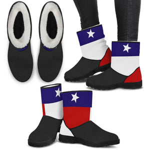 Texas Flag Faux Fur Boots