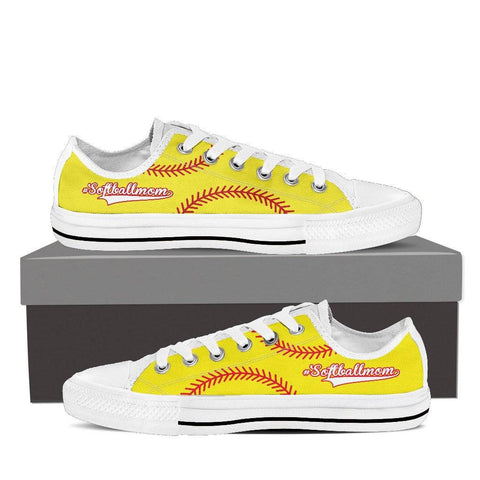 Image of softball mom yellow sneakers