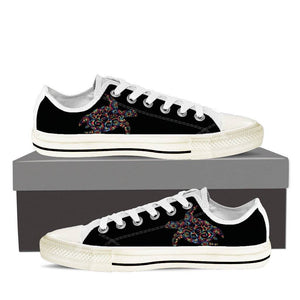 Sea Turtle Ladies Low Top Shoes