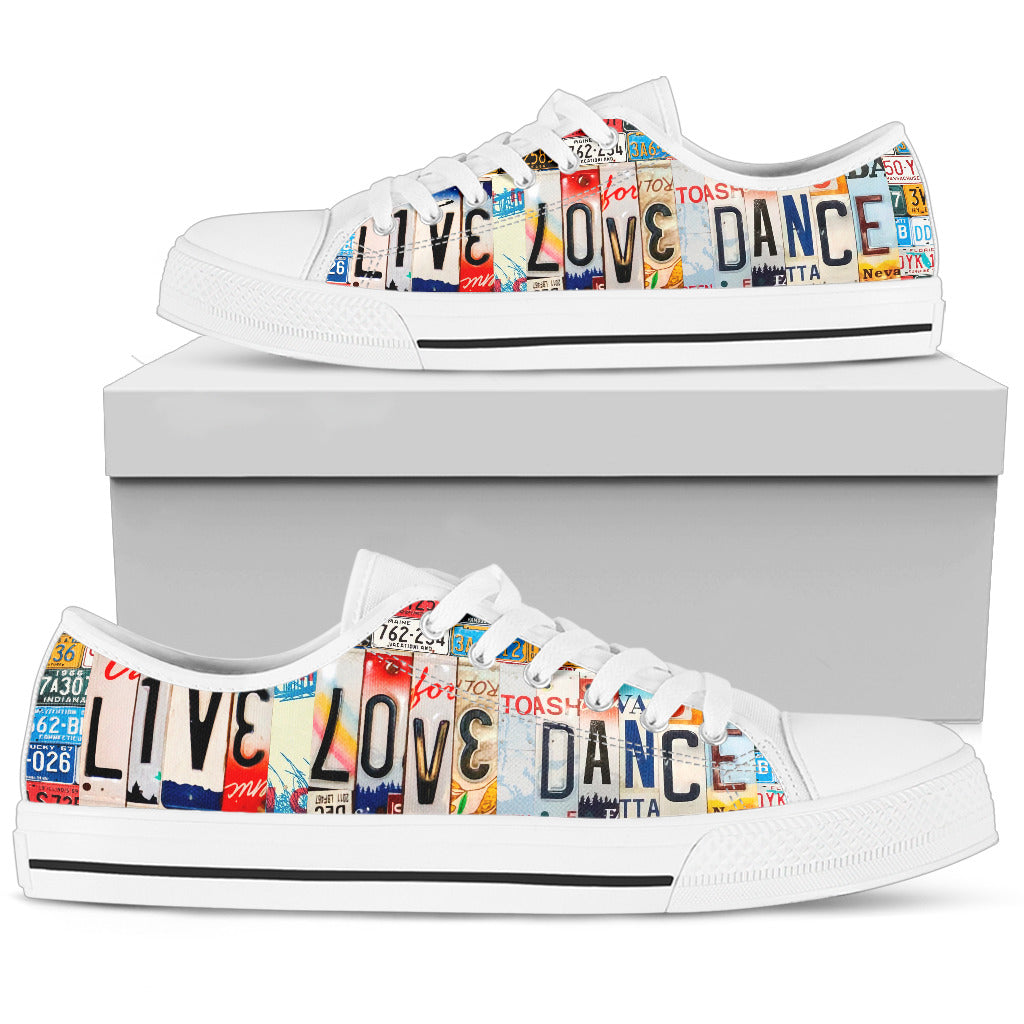 Live Love Dance Women's Low Top Canvas Shoes