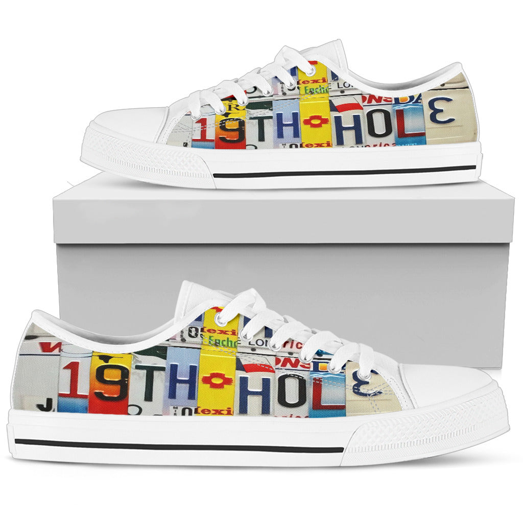 Golf Lovers 19th Hole Custom Men's Canvas Low Top Shoes