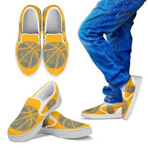 GSW KIds Yellow and Blue Slip On Shoes