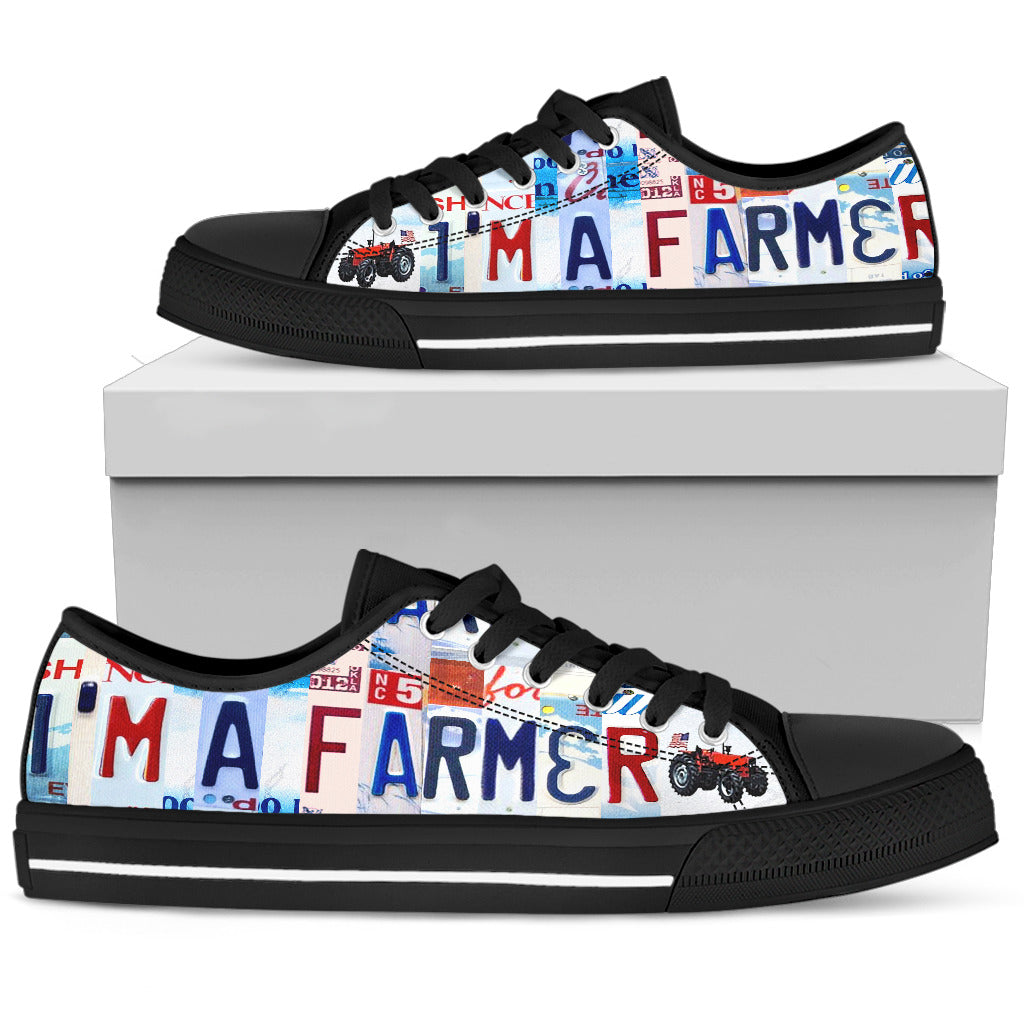 Farmer Strong Farming Pride Mens Low Top Canvas Shoes