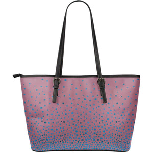 Confetti Sparkles Vegan Leather Tote Dark Pink with Blue Sparkles