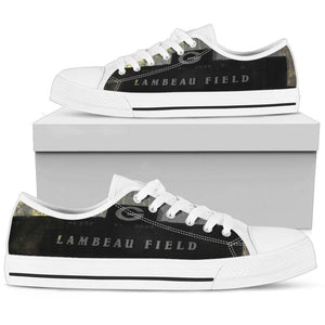 Lambeau Green Bay Dark Grunge Low Top Shoes