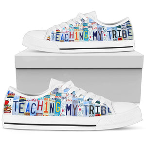 Teachers Canvas Shoes Teaching My Tribe Custom Sneakers