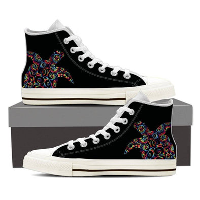 Sea Turtle Ladies High Top Shoes