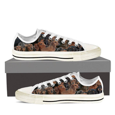 Dachshund Ladies Low Top Shoes