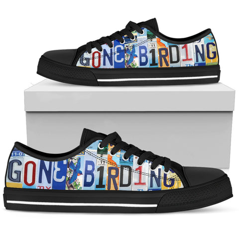 Gone Birding Men's Custom Low Top Canvas Shoes