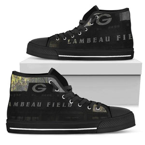 Green Bay Packer Fans Lambeau Grunge Men's High Top Shoes