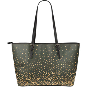 Confetti Sparkles Vegan Leather Tote Charcoal and Gold