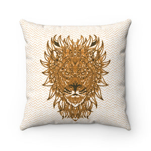 lion head pillow cover