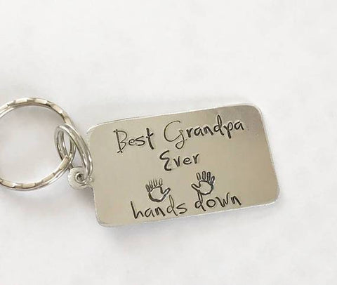 Image of Best Grandpa Ever key chain