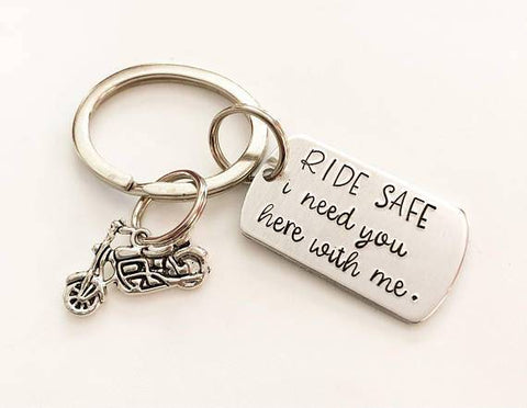 Image of Personalized Motorcycle Keychain Gift