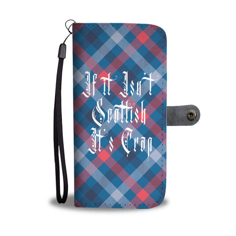 Image of Funny Scottish Quote Wallet Phone Case Combo