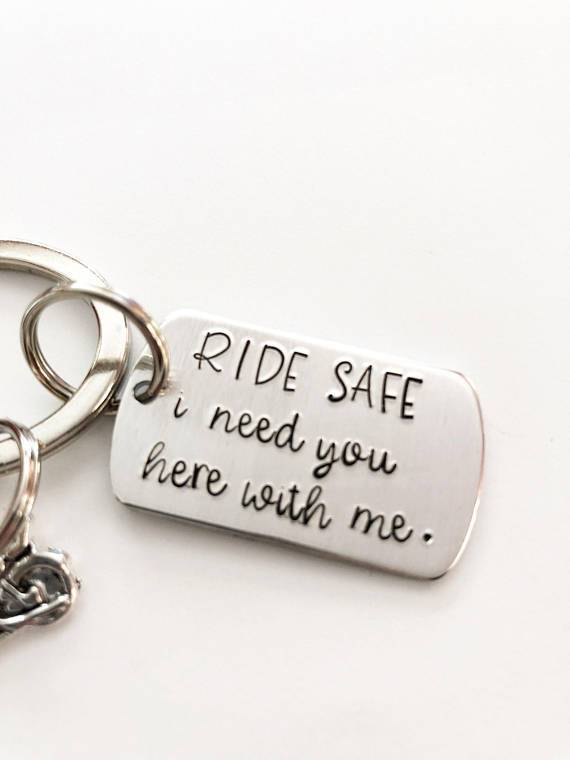 motorcycle rider keychain gift