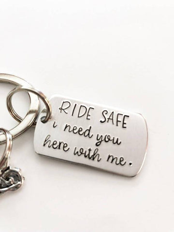 Image of motorcycle rider keychain gift