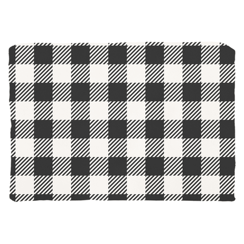 Buffalo Plaid Black and White Pillows and Pillow Covers