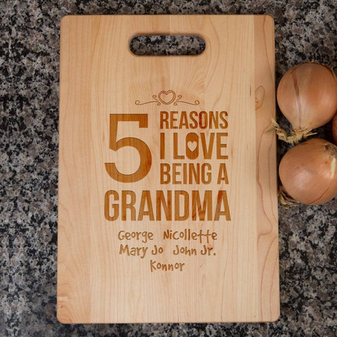 grandma cutting board add names