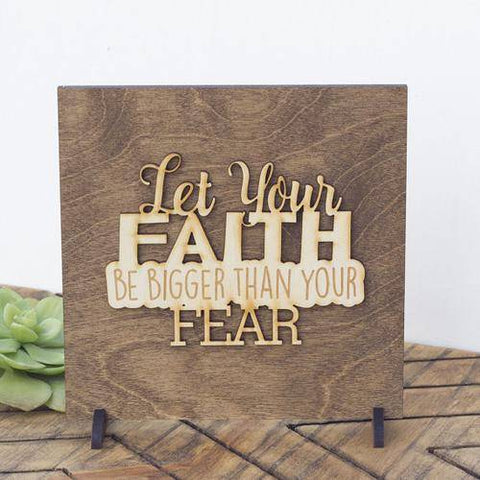 Image of Christian Wall Art Let Your Faith Be Bigger