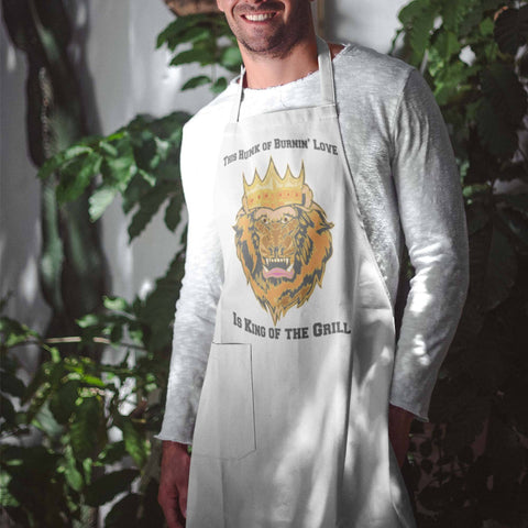 Dad Is King of the Grill Custom Design Apron Gift for Guys