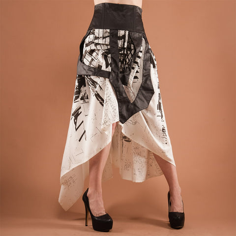 Black and White Layered Skirt
