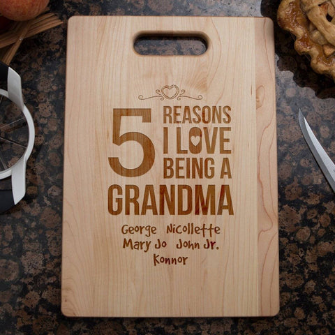 grandma cutting board personalized