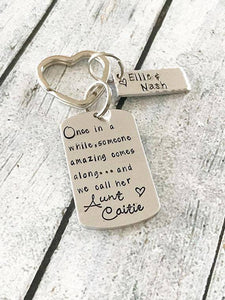 Personalized Aunt Keychain Gift