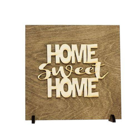 Image of Home Sweet Home Housewarming Gift Wood Plaque