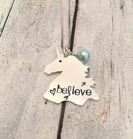 personalized unicorn necklace
