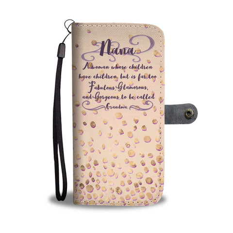 Image of Too Fabulous Wallet Phone Case Nana Gift