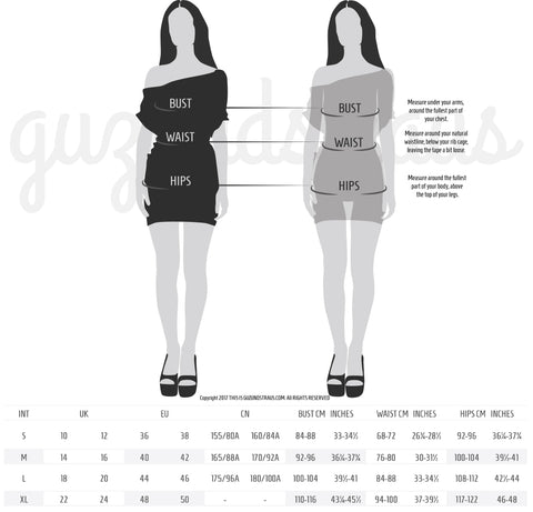size chart grey dress multi use