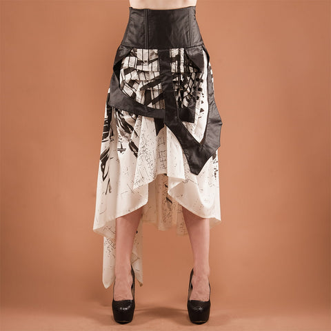 Image of Black and White Layered Skirt