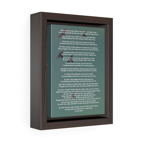 Image of Memory Poem Gallery Framed Wrapped Canvas