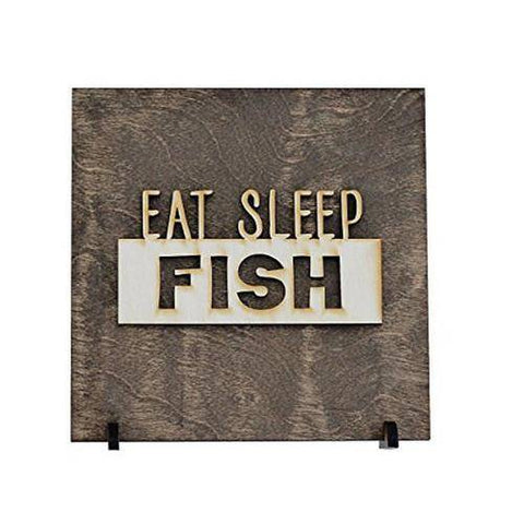 Image of Eat Sleep Fish - Fishing Decor - Gift for Dad -