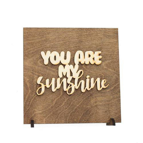 Image of You Are My Sunshine Wood Plaque Gift