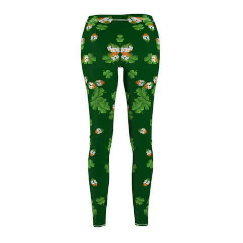 St Patty's Lucky Irish Kisses and Clovers Women's Leggings