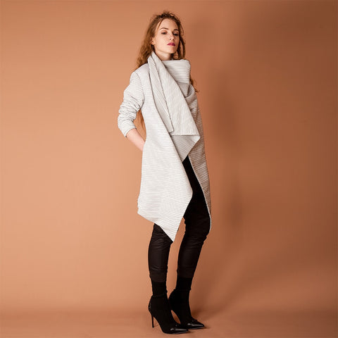 Image of Women's Drape Spring Coat Low Front