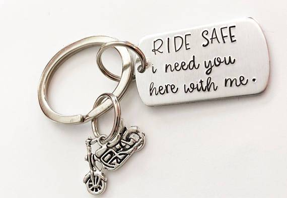 Personalized Motorcycle Keychain Gift