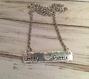 personalized couples name necklace