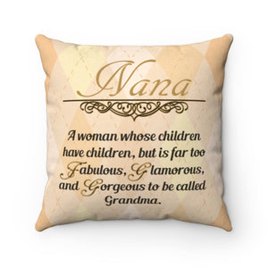 Too Fabulous Nana Faux Suede Pillow Case