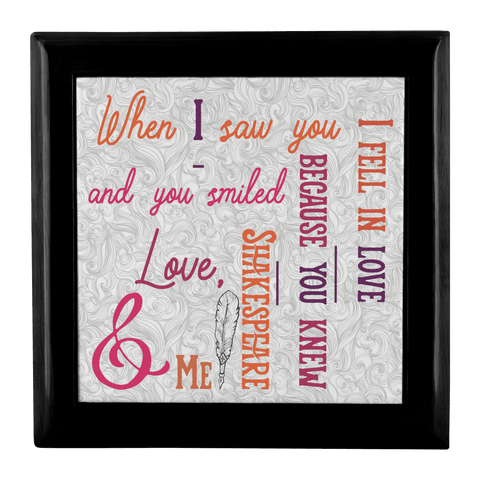 Image of Shakespeare Quote Custom Jewelry Box Gift