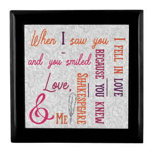 Shakespeare Quote Custom Jewelry Box Gift