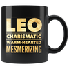 leo astrology gift black mug