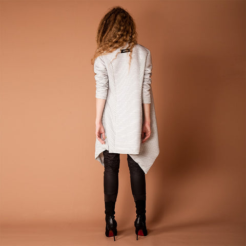 Image of Women's Drape Spring Coat Back View