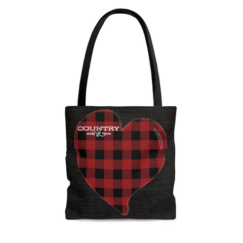 buffalo check country tote bag