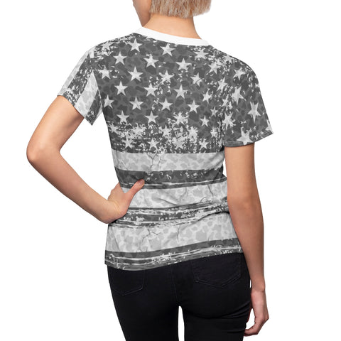 Image of american flag camo allover print t shirt